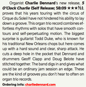 Dec Downbeat CD review